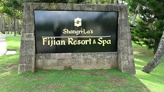 Shangri La Hotels and Resort's luxury beachside resort on the Coral Coast, Fiji. A walk round this large property - South Pacific Ocean view room, gardens, ...