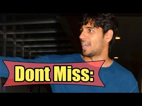 Don't Miss: Sidharth Malhotra Gets Funny With The