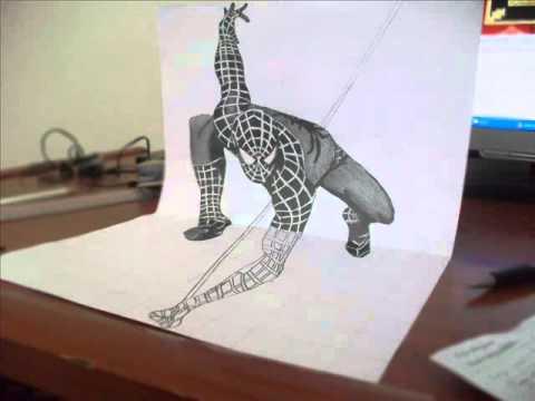 How To Draw 3d Art Spider Man 3d Karakalem On Youzeekcom