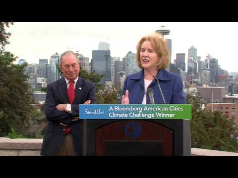 Former NYC Mayor Michael Bloomberg names Seattle winner of American Cities Climate Challenge
