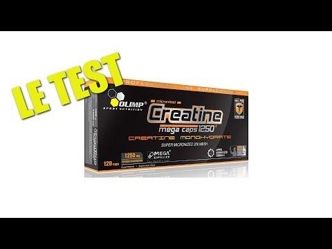 Test de la  CREATINE MEGA CAPS de chez Olimp sport nutrition- videostest.com