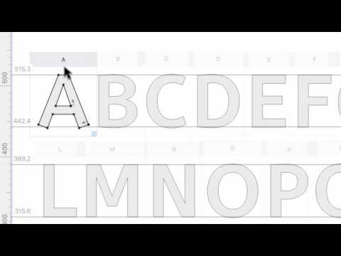 Built-in ScanFont. From sketch to font in minutes with FontLab VI.
