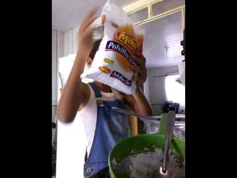 Emily fazendo tapioca! Dieta para emagrecer