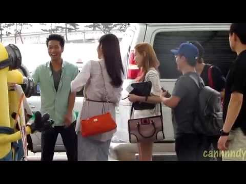 130719 Taeyeon & Seohyun departed from Incheon (видео)