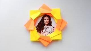 Оригами фоторамка из бумаги