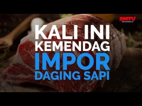 Kali Ini Kemendag Impor Daging Sapi