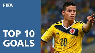 Video TOP 10 GOALS: 2014 FIFA World Cup Brazil™ [OFFICIAL] MP3, 3GP, MP4, WEBM, AVI, FLV Desember 2018