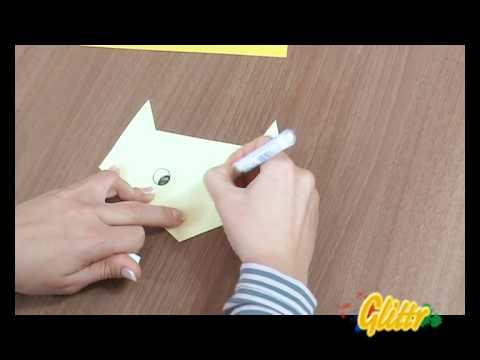 Origami Anleitung: Eine Katze falten