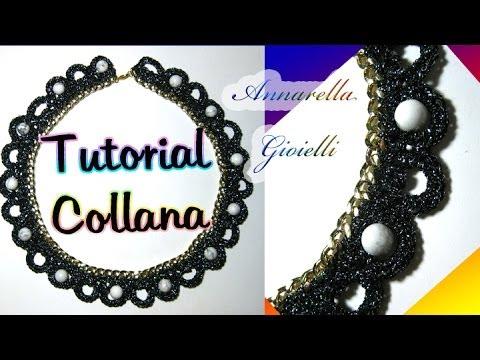 Tutorial collana uncinetto con catena   How to crochet a necklace