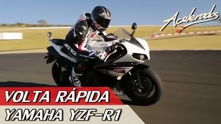10. YAMAHA YZF-R1 - VOLTA R�PIDA #17 COM ALEX BARROS | ACELERADOS