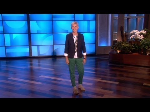 ANNIVERSARY - Ellen's monologue was all about her and Portia's 4th wedding anniversary and the big party they threw!