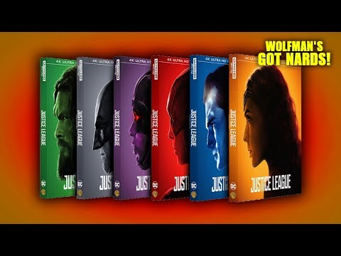 Justice League (2017) 4K Ultra HD Blu-ray Character Covers