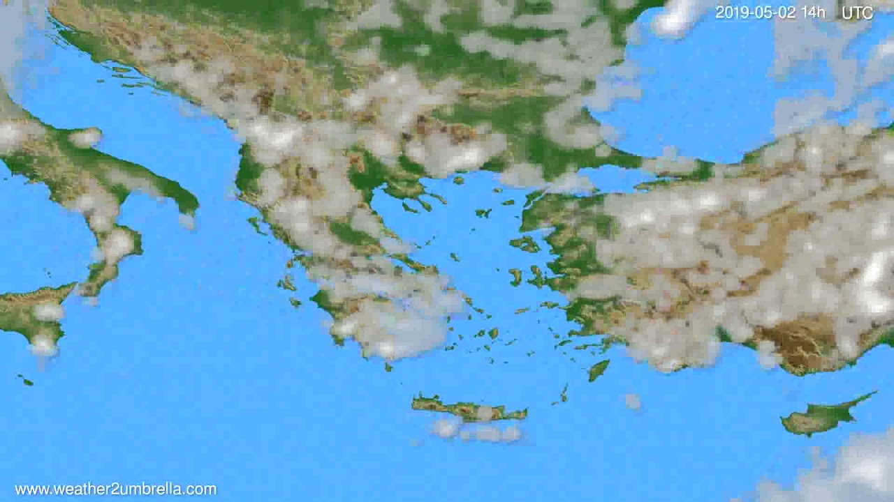 Cloud forecast Greece // modelrun: 12h UTC 2019-04-30