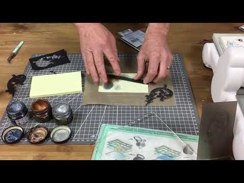 Pete is back making a frame using our Tim Holtz 3D Impresslits Embossing Folders!