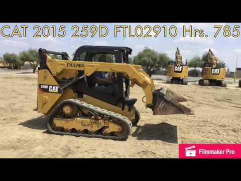 CATERPILLAR SKID STEER LOADERS 259D equipment video c1-Y7mc9YDg