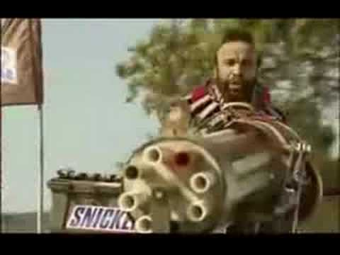 Mr. T Snickers Commercial  With A-Team Theme!!