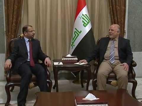 زيارة رئيس مجلس النواب د سليم الجبوري الى رئيس الوزراء حيدر العبادي