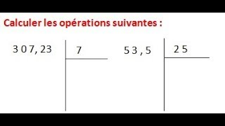 Maths 6ème - Les opérations : Addition Soustraction Multiplication Division Exercice 15