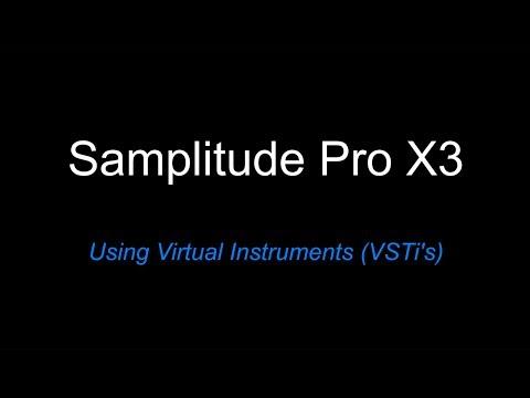Samplitude Pro X3: Using Virtual Instruments (VSTi's)