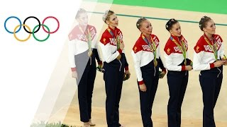 Russia wins fifth straight gold in rhythmic gymnastics group final