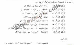 Direct&Indirect Speech Lesson No 3