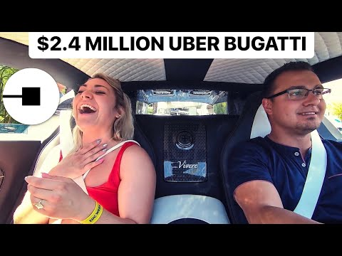 SURPRISING UBER RIDERS WITH A $2.4 MILLION BUGATTI SUPERCAR! *SHOCKING*