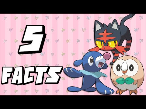 5 Facts About Pokemon Sun and Moon's Starters