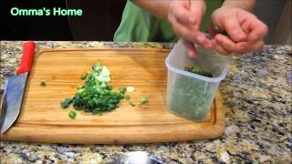 Kitchen Tip #1, Saving Money on Green Onion by Storing, Freezing, Drying by Omma's Home