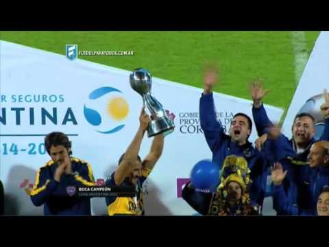 Los festejos del campeón. Copa Argentina 2015.