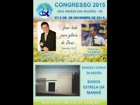 Convite Inauguração Igreja Assembléia de Deus - Dois Irmãos das Missões - RS