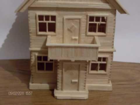 Метки: спички домик из спичек