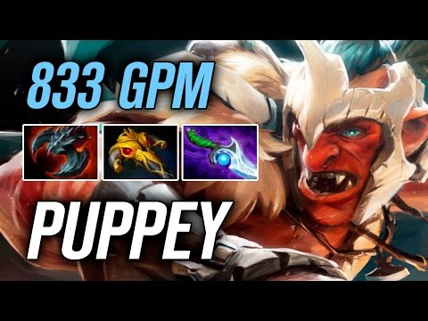 Puppey • Troll Warlord • 833 GPM — Pro MMR