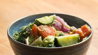 Make This Healthy Cucumber Avocado Salad Using Our New Tasty App by Tasty