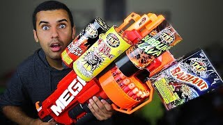 MOST DANGEROUS TOY OF ALL TIME 3.5!! (EXTREME NERF GUN / ZING BOW EDITION!!) FIREWORKS MOD!! In this video Marcus (ADHD) and Parker play with Nerf guns, Zing Air Storm, and CURVE BOWS YET AGAIN!! in one of the stupidest ways ever! By attaching actual fireworks and more! PLEASE GUYS!! NOBODY ATTEMPT THIS AT HOME!MY GEAR!! -Camera US: http://amzn.to/2qk2v5oMicrophoneUS: http://amzn.to/2qnR0qMLens US: http://amzn.to/2quwoMNSD CardUS: http://amzn.to/2pNwnY4Become My Friend On Social Media :D Snapchat - MarcusJXDTwitter - https://twitter.com/ADHDsWorldInstagram - https://www.instagram.com/adhdsworld/WANT TO SEND FAN MAIL??? I OPEN EVERY ITEM ON MY VLOG CHANNEL!!!P.O. Box Adress:Marcus JonesP.O. Box 1421Whittier, CA90609-1421