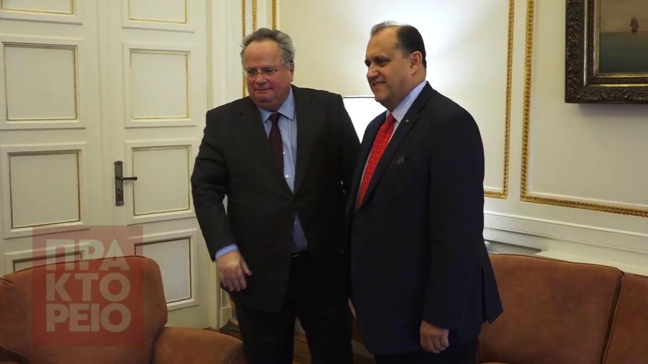 Συνάντηση ΥΠΕΞ, Ν. Κοτζιά, με Πρόεδρο AHI, N. Larigakis