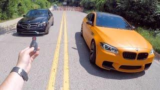 Launch Control TEST! | E63 AMG vs BMW M5 POV 0-60mph Drive! by Vehicle Virgins