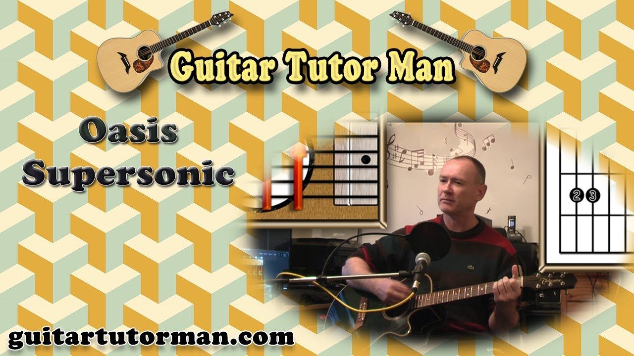 Supersonic – Oasis – Acoustic Guitar Lesson (easy-ish)