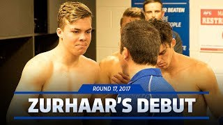Cameron Zurhaar becomes Shinboner number 1003 after making his debut for North Melbourne in Round 17.