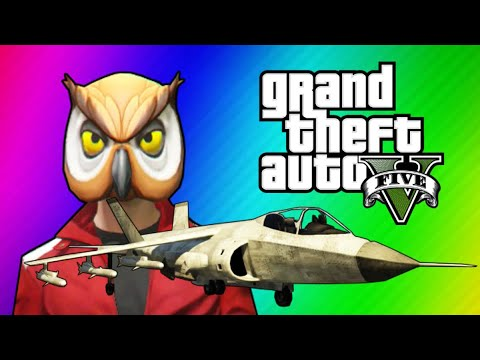 GTA 5 Online Funny Moments – Hydra Jet Fun, Delirious's Battle Gear, Owl Tree!