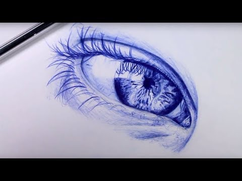 How To Draw A Realistic Eye With A Ballpoint Pen