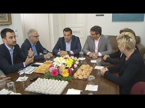 Συνάντηση του Αλ. Τσίπρα με τον δήμαρχο και φορείς της Μύρινας