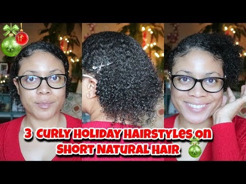 Hairstyles for short hair - Holiday Hairstyles For Short Natural Hair  3c/4a Holiday Natural Curly Hair