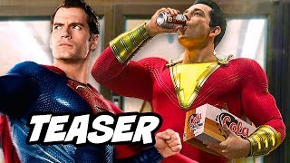 Video Justice League Shazam First Look Teaser and Comic Con Trailer Details Explained MP3, 3GP, MP4, WEBM, AVI, FLV Agustus 2018