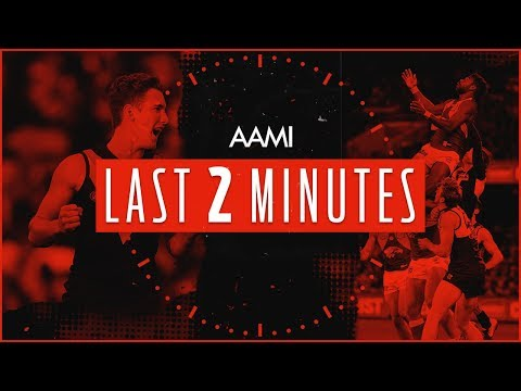 AAMI Last Two Minutes: Port Adelaide V West Coast | Round 21, 2018 | AFL
