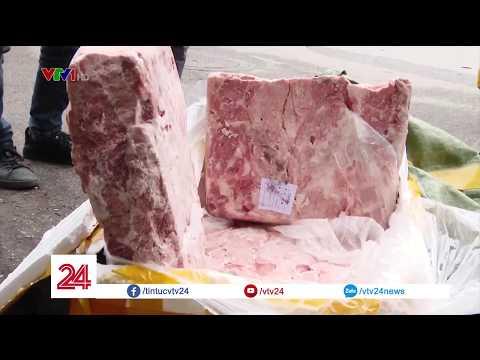 Hàng chục tấn nầm lợn bẩn được nhập lậu qua biên giới @ vcloz.com