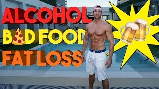 """Here are a few of my favorite tips on how to recover FAST from alcohol and bad food on a fat loss diet! ALCOHOL & FAT LOSS  How To Recover FAST From ALCOHOL + BAD FOOD!https://youtu.be/c1zbV5ypfXo►ALPHA LION PRODUCTS: WARNING! (I'm NOT Responsible for any unplanned pregnancies that your SHREDDED PHYSIQUE causes you!)► MASTER SHREDDER 24 Hour Fat Loss Stack ► http://www.AlphaLion.com/Master-Shredder► Science Of Abs 8 Week Fat Loss Program ►http://www.AlphaLion.com/Science-Of-Abs❌ DISCOUNT CODE - """"SHREDDED"""" for 25% Off► SOCIAL MEDIA ACCOUNTS Instagram - TroyShredSnapchat - TroyspiczFacebook - http://www.Facebook.com/tadashun3A few tips on Alcohol and fat loss, perfect for summer shredding and your fat loss diet!Now you can party and stay shredded with these tips. Don't let a bad night of eating effect you. This is the blueprint to dealing with alcohol, bad food, and fat loss!Alcohol's effect on Bodybuilding and fat loss is very important to understand if you party!"""