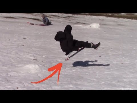 Snow Sledding FAILS & Wipeouts Are a Thing of the Past With this Sled