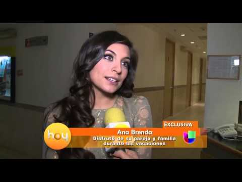 ana brenda contreras - La actriz aseguró haber disfrutado sus vacaciones junto a su familia, no descartó volver a las telenovelas y aseguró quiere hacer teatro.