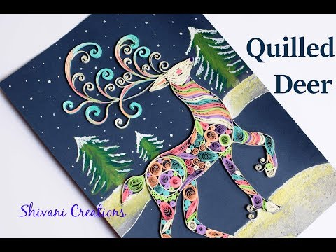 Quilling Deer/ Christmas Wall Hanging/ Christmas Decoration