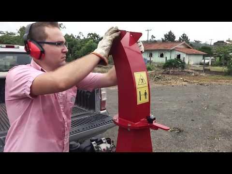 Triturador de galhos Lippel - Bio 150 DT - Triturador de galhadas, troncos e arbustos.